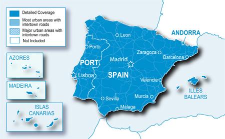Mapa Cobertura Dab España.Actualizar Comprar Mapas Gps Garmin Gps Kenwood Todo